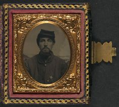 (c. 1861-1865) Soldier in Union uniform with 6th Corps badge