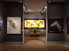 Jonathan Cooper stand at Masterpiece, huge art fair in London, with the Marzio Tamer artwork exhibited.