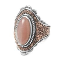 Rodeo Romance Mixed Metal Moonstone Ring