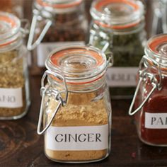 simple and quick DIY for making your spice cabinet a little brighter —labels included!