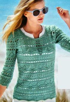 Как связать ажурный пуловер