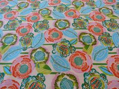 Coco Bloom, Bright Heart Collection by Amy Butler for Free Spirit Fabrics, 1/2 yd by RockPaperScissorsNJ on Etsy https://www.etsy.com/listing/240268043/coco-bloom-bright-heart-collection-by