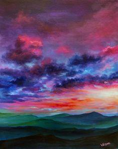 Sky Painting, Abstract Landscape Painting, Acrylic Painting Canvas, Abstract Art, Canvas Art, Canvas Prints, Chalk Pastel Art, Sky Art, Art Plastique