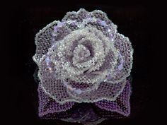 パープル・グレーのキラキラ薔薇ビーズコサージュ #カザリ咲色 #ビーズ #ビーズフラワー #ビジュー #ハンドメイド #コサージュ #手作り #手芸 #アクセサリー #コスチュームジュエリー #bead #beads #bijou #beading #beadedflower #beadswork #beadwork #beadsph #bijoux #beaded #biser #corsage #handmade @【カザリ咲色】 Kazari-Sakuiro.jp