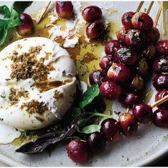 Grape Recipes, Basil Recipes, Pub Food, Food 52, Ottolenghi Recipes, Yotam Ottolenghi, Mozzarella, Vegetarian Recipes, Cooking Recipes