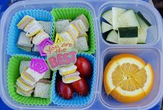 What The Girls Are Having: lunch ideas. Not that I think my kids will eat half of the stuff but I would! Easy School Lunches, Kids Lunch For School, Toddler Lunches, Bento Recipes, Lunch Box Recipes, Bento Ideas, Kid Recipes, Lunchbox Ideas, Cold Lunches