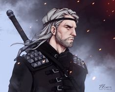 The Witcher Geralt, Geralt Of Rivia, The Last Wish, Witcher 3 Wild Hunt, Fantasy Series, Monster Hunter, Digital Art, Fan Art, Artist