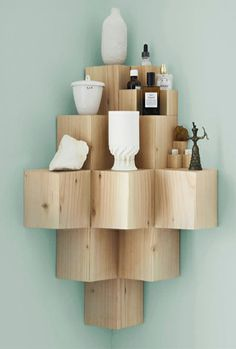 Baby In The Corner - Luxe Blog - I think this is very clever and a great way of displaying your treasures