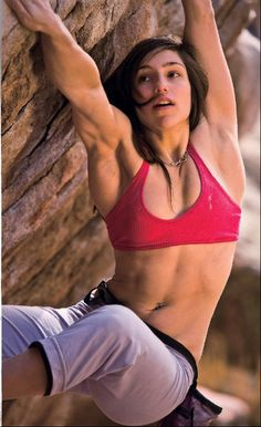 This could be my neice, Lesley.  She's a rock climbing goddess.  Love it <3