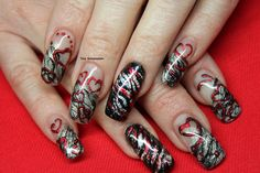 Gel Nail art with foil