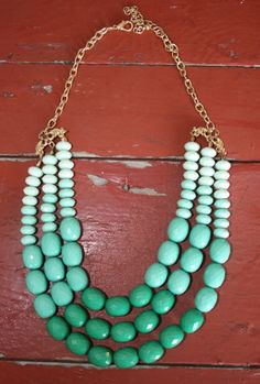 Green Ombre Necklace  www.cowgirlcrushxo.com