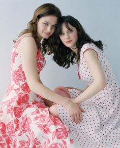Emily and Zooey Deschanel by Viki Forshee