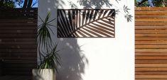 Laser cut screens - Palm frond (weathering steel)