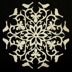 The Quilt Rat: Cutting Paper Snowflakes  This is a GREAT idea for making whole cloth quilting designs!