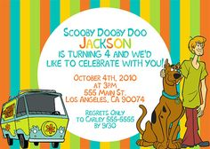 Making Elijahs Scooby Doo invitations Wedding Ideas Pinterest