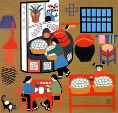 Chinese  inspired Folk Art