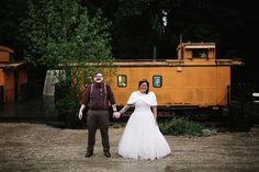 Rainy redwoods and tons of DIY at this Wes Anderson wedding