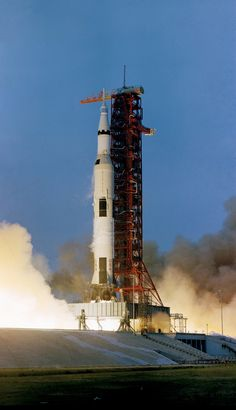 "April 11, 1970, Apollo 13 lifted off with Cdr Jim Lovell, CM Pilot Jack Swigert and LM Pilot Fred Haise. Two days later an oxygen tank exploded, scrubbing the lunar landing and putting the crew in jeopardy. The crew used their lunar module as a ""lifeboat,"" and even rigged an adapter so than a command module ""air scrubber"" would work in the lunar module, preventing a dangerous buildup of carbon dioxide. The mission ended safely when the crew splashed down on April 17, 1970"