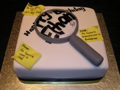 Was curious on what kind of cake...Would make this without all the fondant (well, maybe the post it sheets might work).