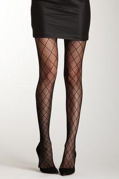 Adrienne Vittadini Ladies Diamond Fishnet Tight by Adrienne Vittadini & Isaac Mizrahi Legwear on @HauteLook