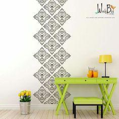 Damask Wall Decal Vinyl Wall Decal Wall By Wordybirdstudios