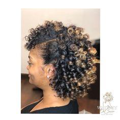 Volume & shine for days❤️ _________________________________________________ Natural Hair Perm Rods, Roller Set Natural Hair, Natural Hair Highlights, Natural Hair Regimen, Natural Hair Growth, Natural Hair Journey, Permed Hairstyles, Natural Hairstyles, Cute Hairstyles