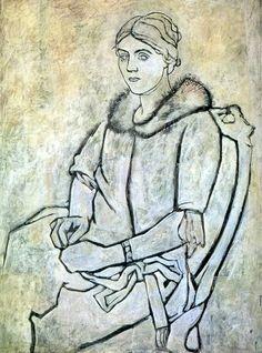 Pablo Picasso, Olga au col de fourrure, 1923