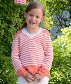 Kapuzenpulli mit Streifen, S8913B - Gratisanleitung: Fröhliche Ringel und eine lässige Kapuze, das ist genau das Richtige für freche Mädchen...