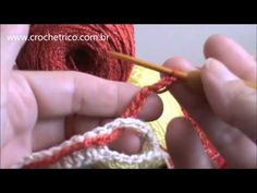 Crochê - Cachecol MultiColorido - Parte 01/02