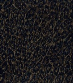 Fashion Knit Fabric- Imperial Knit Animal Black & Gold