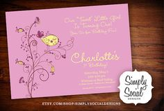 Whimsical Bird First Birthday Baby Shower by SimplySocialDesigns, $16.00