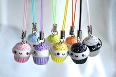 Halloween Kawaii Polymer Clay Charm Bracelet by CheekyCharmz