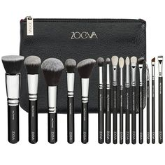 ZOEVA Complete Set, 15 Pc, with Large Black Clutch Case