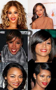 Nice red lips for black girls