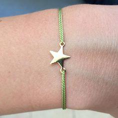 Tiny star bracelet Adjustable bracelet Silk cord bracelet