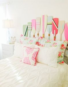 So cute! This would be perfect for a little beach house! But, I love the bedding for MY house!!!! (Very girly!!)