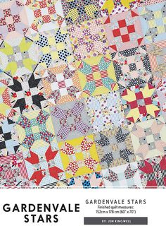 Gardenvale Stars By Jen Kingwell Modern Quilt Pattern Project 60 x 70 by PrivateSourceQuiltin on Etsy