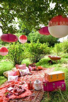 Come organizzare il giardino per grigliate estive - Decorazioni per pic nic