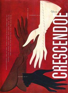 Crescendoe Gloves vintage advertising