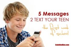 5 Messages to Text Y