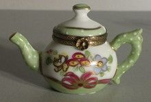 Teapot with Green Cove, No.144, Limoges Boxes
