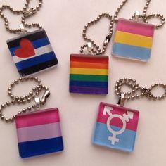 Lgbt keychain, pansexual keychain, transgender keychain, bisexual keychain, glass tile keychain