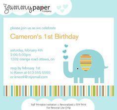 Blue elephant birthday