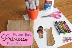Toddler Approved!: Paper Bag Princess Photo Craft {Poppins Book Nook}