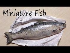 ▶ Realistic Miniature Fish / Salmon - Polymer Clay Tutorial - YouTube