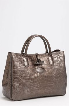 My birthday is just a few months away  Longchamp 'Roseau' Embossed Tote available at #Nordstrom