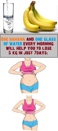 One banana and one glass of water every morning will help you to lose 5 kg in just 7days!