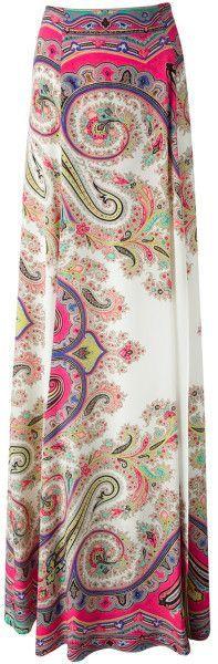 Printed Maxi Skirt - Lyst