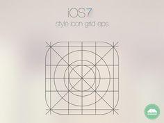 IOS7 App Icon Vector Grid.