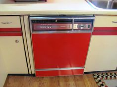 1980s dishwasher goes vintage with paint and pinstripes.